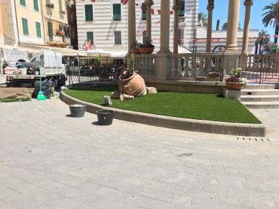 Prato erba sintetica Liguria - Chiosco della musica Rapallo